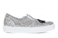 CHIARA FERRAGNI SLIP ON EYE GLITTER SILVER